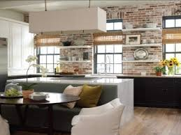 Black Modern Kitchen Cabinets by Kitchen Cupboards Made With Bricks White Stained Iron Pendant Lamp