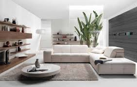 interior minimalist white living room with all white elements on