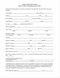 sheet template patient registration form template blank medical