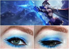 league of legends inspired makeup ashe league of legends