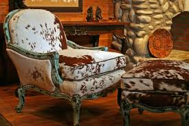 Western Leather Chair Cowhide Accent Chair Militariart Com
