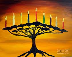 menorah tree of tree of menorah painting by avishai avi peretz