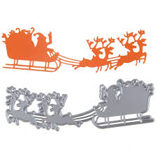 aliexpress com buy father christmas elks sled pattern metal