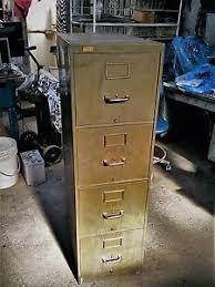 Vintage Metal File Cabinet Vintage Genuine Yawman Erbe Army Green Rustic Brass Accent Metal