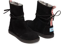 buy boots in nepal toms suede youth nepal boots in black lyst