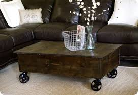 Rolling Coffee Table Cart Coffee Table