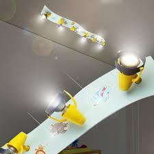 spot chambre enfant animaux sauvages projecteur de plafond enfant jaune le