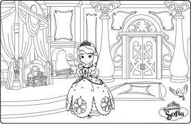 chambre princesse sofia coloriage a imprimer la chambre de la princesse sofia gratuit et
