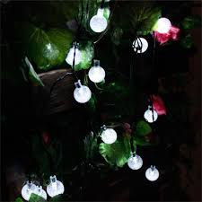 zitrades 30 led crystal ball solar powered outdoor string lights