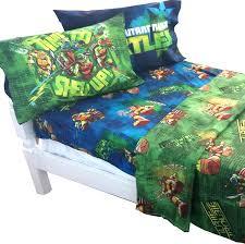 Ninja Turtle Bedroom Furniture by Amazon Com Teenage Mutant Ninja Turtles Shell Up 4pc Full Bed