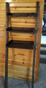 Leaning Ladder Bookshelves custom made leaning ladder shelf in dark walnut leaning ladder