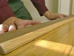 Laminate Floor Threshold How To Install A Door Threshold With Vinyl Bulb How Tos Diy