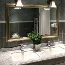 Modern Contemporary Bathroom Mirrors by Bathroom Design Bathroom Glamour Elegant Vanity Mirror Faced Off
