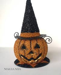 halloween witch hat craft magia mia a plastic pumpkin paper mache witch hat and german