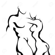 K Hen In U Form Kaufen Nackt Dame Lizenzfreie Vektorgrafiken Kaufen 123rf