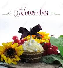 november seasonal flowers beautiful fall thanksgiving theme cupcake with seasonal flowers