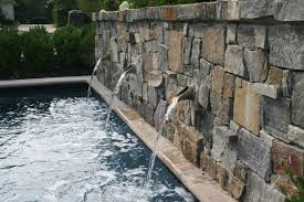 decoration ideas adorable grey stone mosaic tile wall fountain in