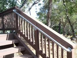 outdoor wooden railings wood doors building stair railings