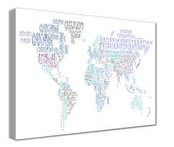 Iran On World Map Map Canvas Text Art World Map Countries Green And Blue From