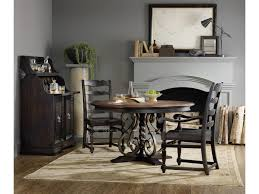 hooker dining room chairs hooker furniture treviso round dining table with wrought iron