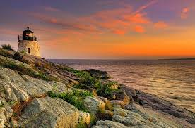 Rhode Island Landscapes images Castle hill lighthouse newport rhode island photograph by jpg