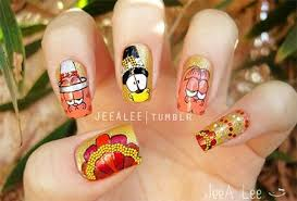 12 thanksgiving nails art ideas u0026 designs for girls 2014