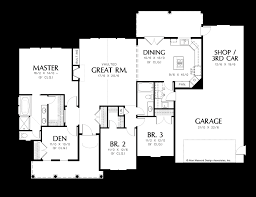house plans expansive rear view