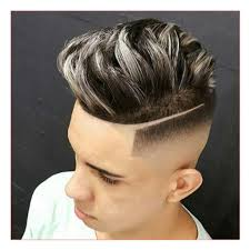 mens haircut buzzed on sides long on top with dapper haircut high