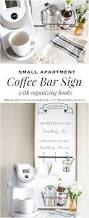 space saving mini coffee bar sign and organizer apartments