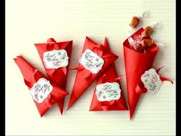 Favor Cones by Ideas For S Day Favor Cones Easy To Do Gift Wrap