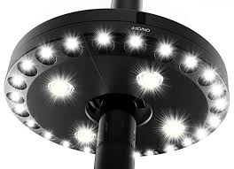 Patio Umbrellas With Led Lights Best Led Patio Umbrella Lights Reviews And Buy Guide