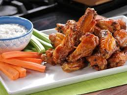 bobby s buffalo wings with tangy cheese dip recipe food network