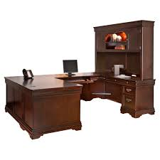 Cherry Computer Desk With Hutch by Furniture Cherry Finished Wooden Work Station Decor With Lighted
