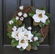 halloween anniversary gifts monogram wreath magnolia wreath cotton boll wreath second