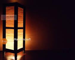 asian oriental craft bamboo japanese lamp zen bedside lamp