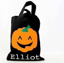 halloween pumpkin bag halloween personalised trick or treating bag by precious little