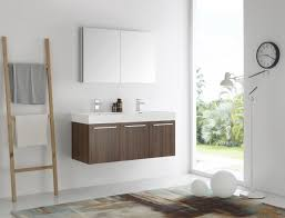 48 Inch Double Bathroom Vanity by Mezzo 48 Inch Walnut Wall Mounted Double Sink Modern Bathroom Vanity