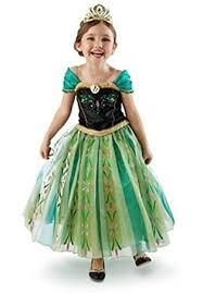 2 3 Halloween Costume Princess Girls Snow Queen Green Fancy Dress Halloween Costume
