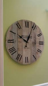 personalized wedding clocks 24 large wall clock wedding gift keepsake reclaimed wood clock