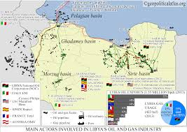 Map Of Libya Main Actors Involved In Libya U0027s Oil And Gas Industry