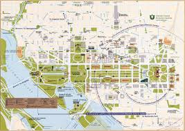 large detailed street map of central washington d c showing
