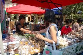 beijing farmers u0027 market in the courtyard of the red wall garden