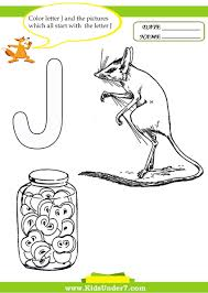 kids under 7 letter j worksheets and coloring pages