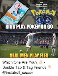 Us Soccer Meme - credit soccer soccermemes kids play pokemon go l j us soccer real