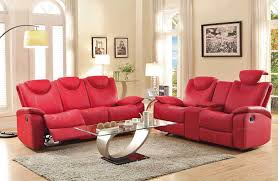 perfect red leather sofa set red leather reclining sofa recliner