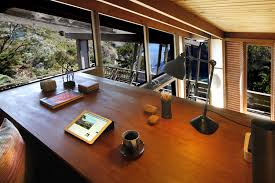 Home Loft Office by Quirky Cali Midcentury By Frank Lloyd Wright Apprentice Asks 2 25