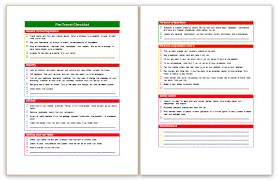 packing list template save word templates