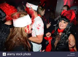 gitta saxx dancing at halloween party presented by berlin dungeon