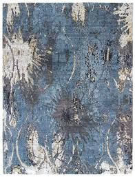 Modern Blue Rugs Mesmerizing Blue And Gray Rug Classof Co