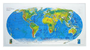 3d Map Of The World by 3d Relief World Map Rand Mc Nally 3d World Maps 3d Raised